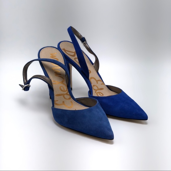 3a06e9c30574 Sam Edelman Dora suede slingback heels. M 5ab018de45b30c69e385f6bd